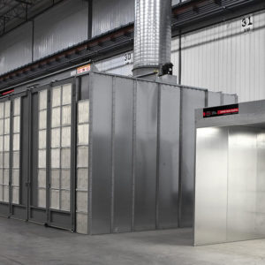 Dry Filter Enclosed Spray Booth